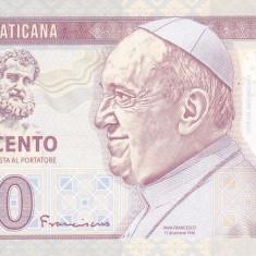 Bancnota Vatican 500 Lire 2014 - SPECIMEN ( proba pe hartie cu filigran ) - bancnota europa, An: 2015