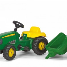 Tractor cu Pedale si Remorca copii 012190 Verde Rolly Toys - Vehicul