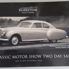 Catalog Licitatie Auto - Silverstone Auctions - The Classic Motor Show (2014) - Carti auto
