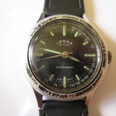 Rar! Ceas mecanic elvetian colectie Lenga Diver Antimagnetic din anii 50 - Ceas barbatesc, Mecanic-Manual