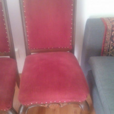 Vand 6 scaune din furnir de nuc. - Scaun living