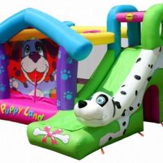 Saltea gonflabila Puppy Land Happy Hop - Casuta copii