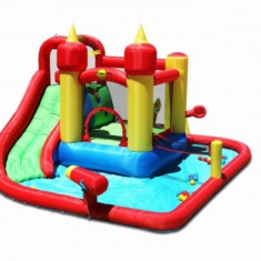 Saltea gonflabila Splash Funland Happy Hop - Casuta copii Happy Hop, Multicolor