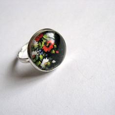 Inel cu motiv floral 29235