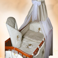Set Lenjerie de pat pentru copii-Ankras Sweet dreams Bear 5 piese LPAS5-B - Lenjerie pat copii