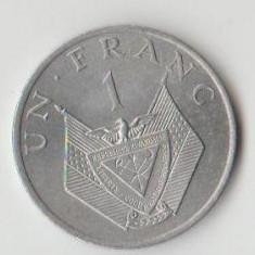 Moneda 1 franc 1977 - Rwanda, Africa