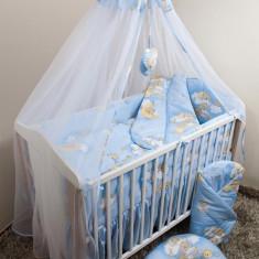 Set Lenjerie de pat pentru copii Ankras Ursi pe scara 5 piese LPAUPS5-A - Lenjerie pat copii