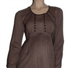 Bluza cu maneca lunga pentru gravide NEWSTAR NWS19M, Maro - Bluza gravide