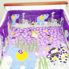 Set Lenjerie de pat pentru copii-IKS 2 Jungle 6 piese LPIJ6-M - Lenjerie pat copii