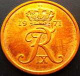 Moneda 5 ORE - DANEMARCA, anul 1971 *cod 2770 A.UNC, Europa