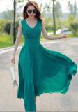 Rochie midi , eleganta,  de seara ,pentru ocazii, XL, XXL, Verde