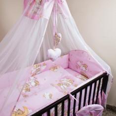Set Lenjerie de pat pentru copii Ankras Ursi pe scara 2 piese LPAUPS21-R - Lenjerie pat copii