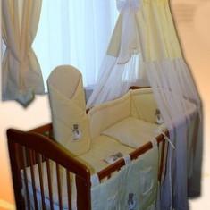 Set Lenjerie de pat pentru copii-Ankras Sweet dreams Bear 5 piese LPAS5-G - Lenjerie pat copii