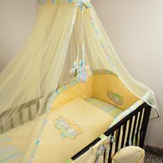 Set Lenjerie de pat pentru copii Ankras Flowers 4 piese LPAF4-G - Lenjerie pat copii