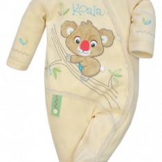 Salopeta cu maneca lunga pentru bebelusi-KOALA Mis Koala 03-850G, Galben