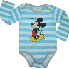 Body cu maneca lunga pentru copii E PLUS M Mickey Mouse, Albastru