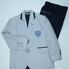 Costum pentru baietei casual-elegant L&A KIDS 1353-01, Alb-Bleumarin