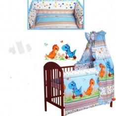 Set Lenjerie de pat pentru copii IKS 2 Dino 2 piese LPD-1A - Lenjerie pat copii