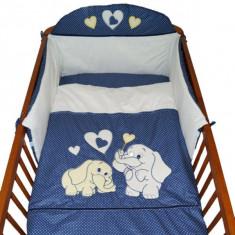Set Lenjerie de pat pentru copii-Ty i My My Elephant 3 piese LPTME3-B - Lenjerie pat copii