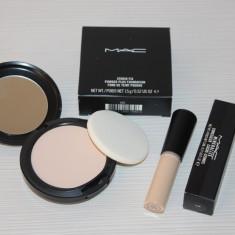 Set MAC pentru ten deschis - Pudra Mac Cosmetics Studio Fix + Corector Mineralize, Compacta