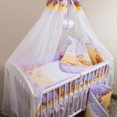 Set Lenjerie de pat pentru copii Ankras Elefant cu umbrela 5 piese LPAECU5-M - Lenjerie pat copii