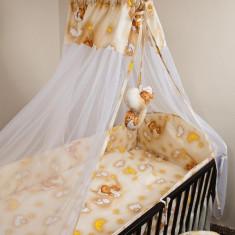 Set Lenjerie de pat pentru copii Ankras Ursuleti in hamac 2 piese LPAUIH22-C - Lenjerie pat copii
