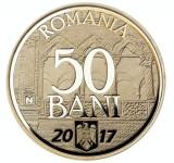 Moneda 50 Bani 2017 10 ani de la aderarea Romaniei la U.E proof in capsula