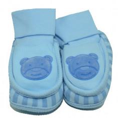 Botosei tip ciorapi pentru nou nascuti-NN BTS8-AL, Albastru - Botosi copii