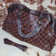 LOUIS VUITTON EBENE REPLICA A++ - Geanta Dama Louis Vuitton, Culoare: Din imagine, Marime: Medie, Geanta servieta, Asemanator piele
