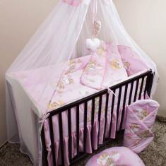 Set Lenjerie de pat pentru copii Ankras Ursi pe scara 5 piese LPAUPS5-R - Lenjerie pat copii
