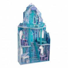 Casuta pentru papusi Disney - Castelul de Gheata Frozen Kidkraft, Bleu