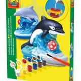 Ses Junior - Set Creativ Mulaj 3D Si Pictura - Delfin - Jocuri arta si creatie
