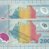 Bancnota 2000/1999-serii consecutive - Bancnota romaneasca