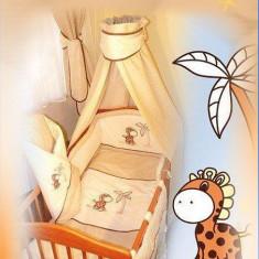 Set Lenjerie de pat pentru copii Ankras Girafa 2 piese - Lenjerie pat copii