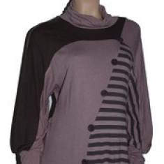 Bluza cu maneca lunga pentru gravide NEWSTAR NWS23M, Maro - Bluza gravide