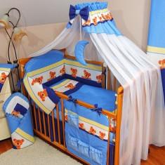 Set Lenjerie de pat pentru copii-IKS 2 Ursuleti cu buline 5 piese LPIU5-A1 - Lenjerie pat copii