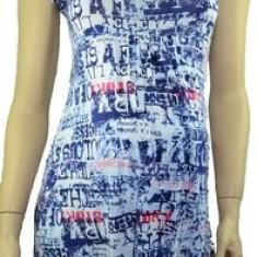 Bluza cu maneca scurta pentru gravide-DUE BDDE10A, Albastru - Bluza gravide