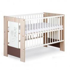 Patut din lemn pentru copii Klups Safari Bunny PKS-2C - Patut lemn pentru bebelusi