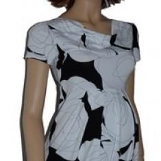 Bluza cu maneca scurta pentru gravide-DUE BDDE2A, Alb - Bluza gravide