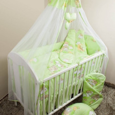 Set Lenjerie de pat pentru copii Ankras Ursi pe scara 5 piese LPAUPS5-V - Lenjerie pat copii
