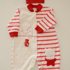 Salopeta+caciulita pentru bebelusi-BEBELINNA, Bej