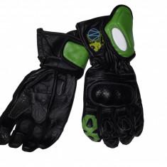 MXE Manusi Moto Piele Lungi, Culoare Negru/Verde Marime L Cod Produs: MX5451