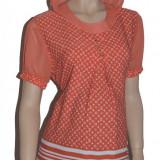 Bluza cu maneca scurta pentru gravide NEWSTAR NWS20P, Portocaliu