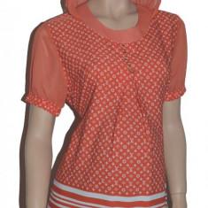 Bluza cu maneca scurta pentru gravide NEWSTAR NWS20P, Portocaliu - Bluza gravide
