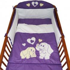 Set Lenjerie de pat pentru copii-Ty i My My Elephant 3 piese LPTME3-M - Lenjerie pat copii