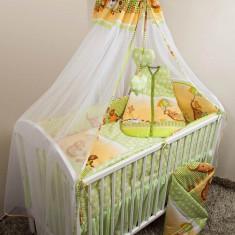 Set Lenjerie de pat pentru copii Ankras Elefant cu umbrela 5 piese LPAECU5-V - Lenjerie pat copii