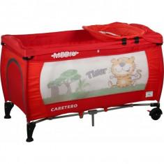 Patut pliabil pentru copii-Caretero MEDIO Safari PCMS3-R, Rosu