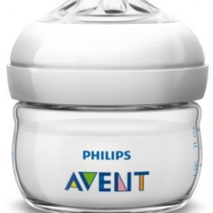 Biberon din polipropilena cu tetina din silicon PHILIPS AVENT Natural 60 ml SCF699/17