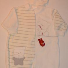 Salopeta plusata pentru bebelusi-BEBELINNA 816, Bleumarin