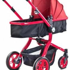 Carucior 2 in 1 pentru nou nascuti-Caretero Navigator NVG1R, Rosu - Carucior copii 2 in 1